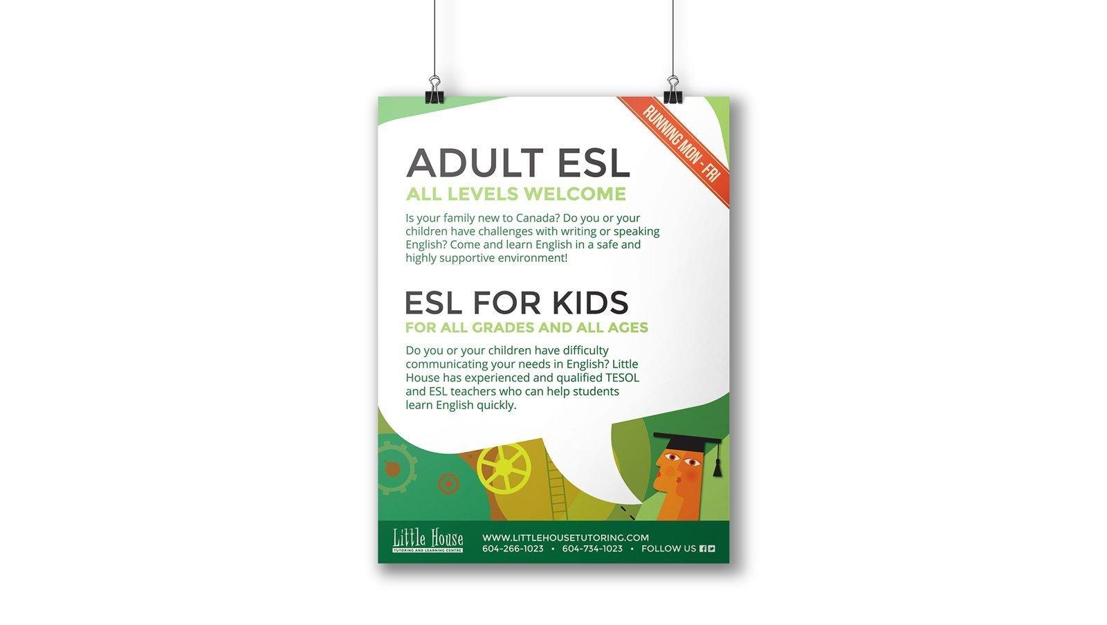little house tutoring poster